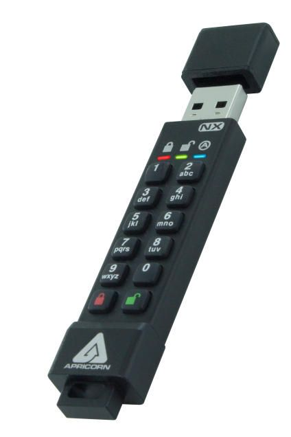 apricorn ask3nx 128gb usbstick with pincode