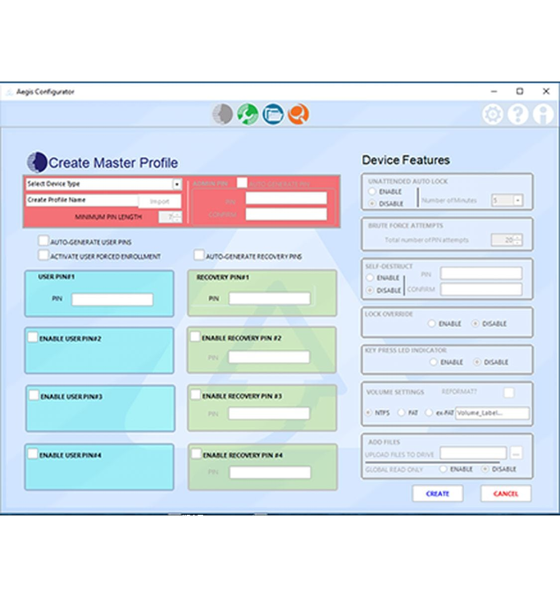 apricorn configurator central provisioning tool