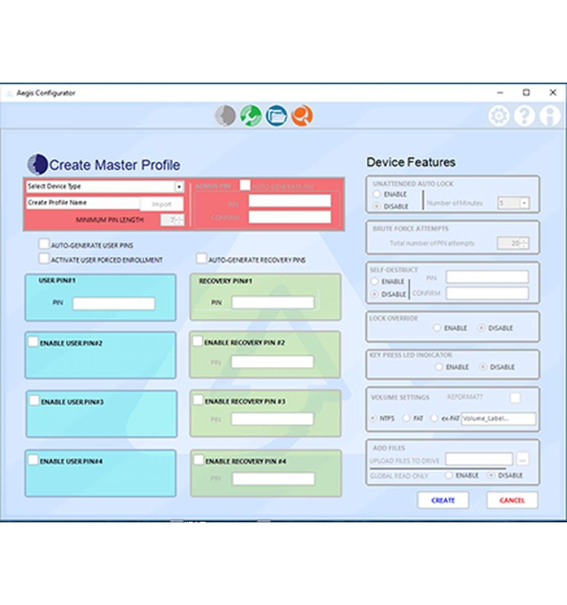 apricorn configurator centrale provisioning tool