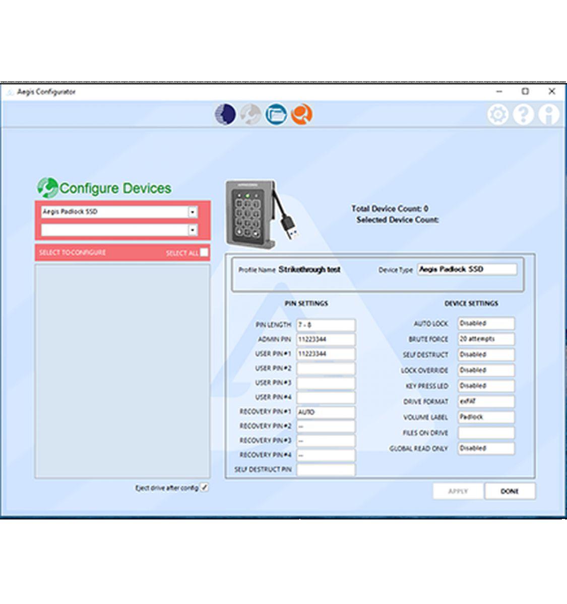 apricorn configurator provisioning tool