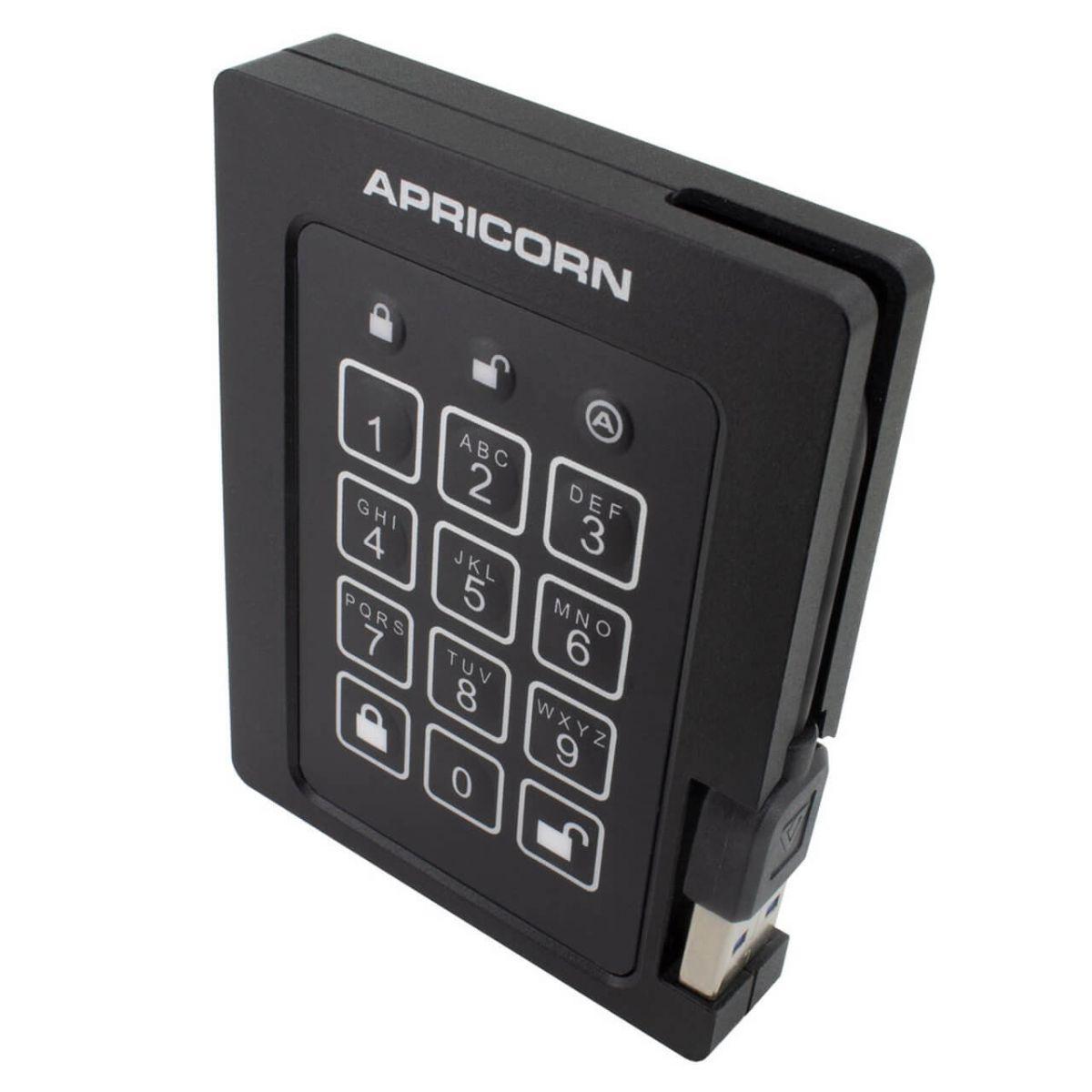 apricorn padlock beveiligde ssd 240gb