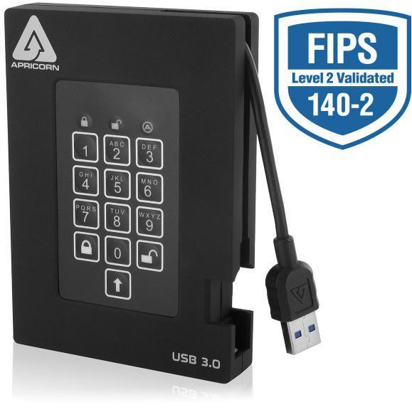 apricorn padlock fortress 2tb externe ssd