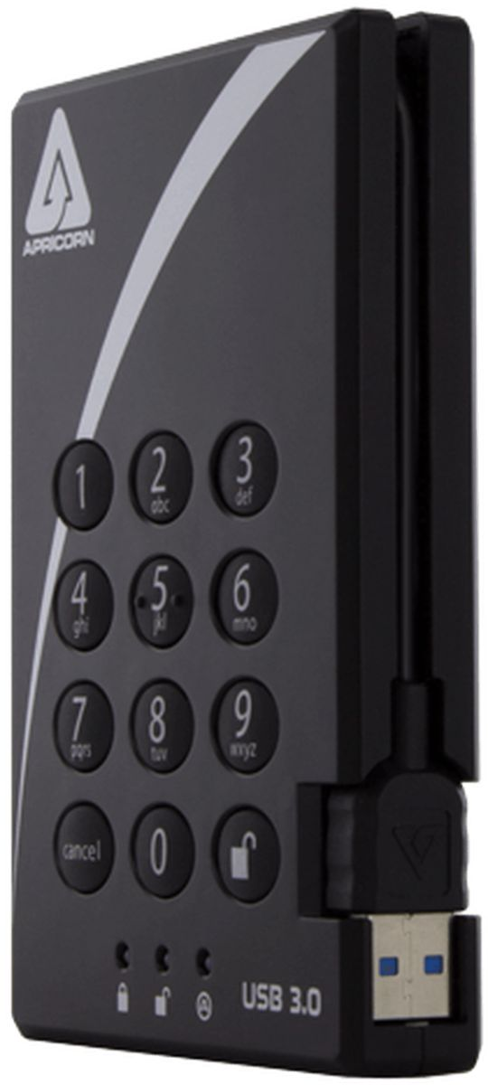 apricorn padlock usb 30 2tb