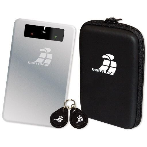 digittrade rs256 500 gb external hdd with rfid security