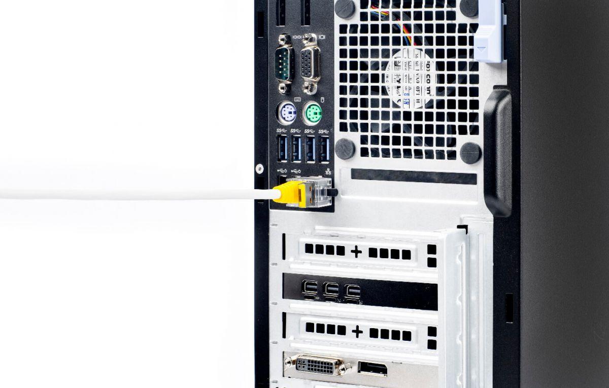 smart keeper essential lan cable lock geel 12