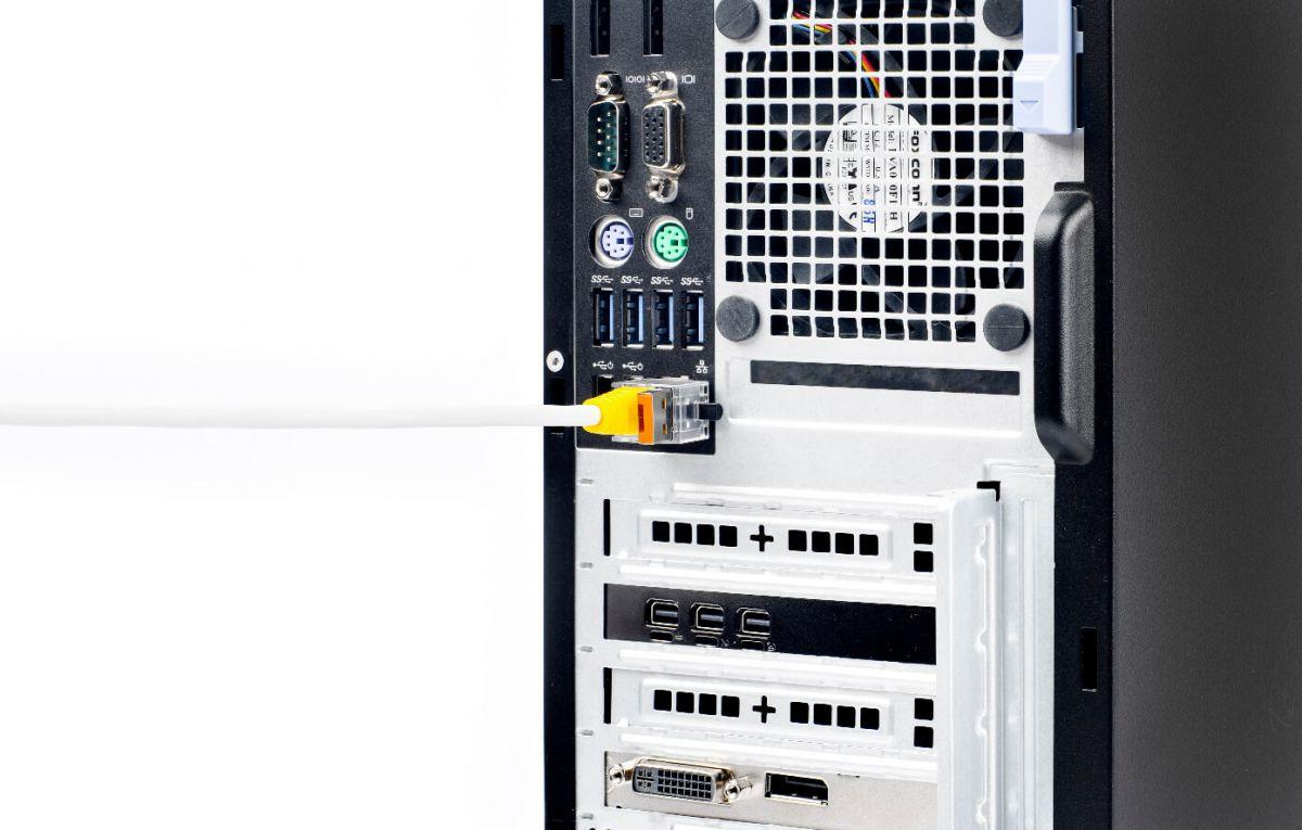 smart keeper essential lan cable lock orange 12