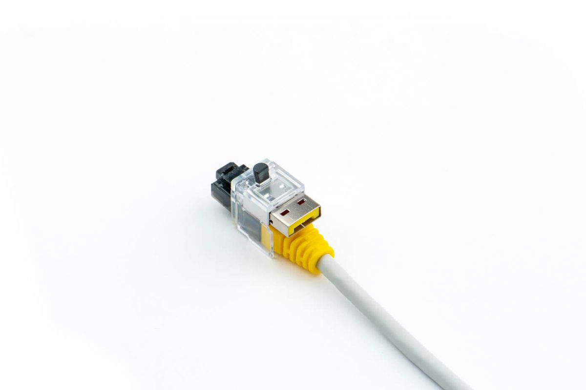 smart keeper essential lan cable lock yellow 12