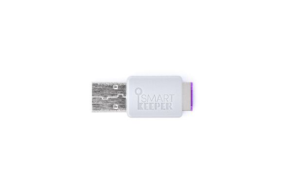 smart keeper essential lockable flash drive purple