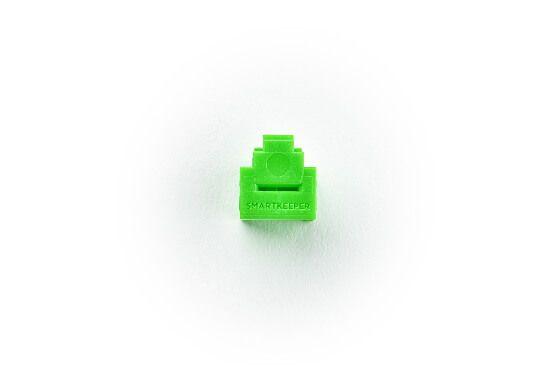 smart keeper essential rj11 port lock green lock key mini green