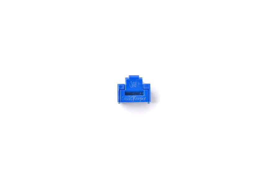 smart keeper essential rj45 port lock dark blue lock key basic dark blue