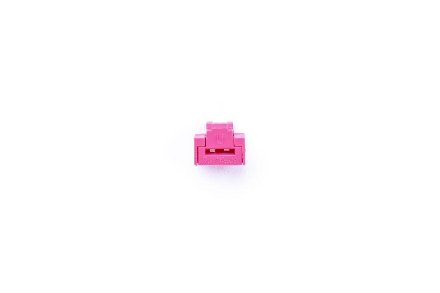 smart keeper essential rj45 port lock pink lock key basic pink