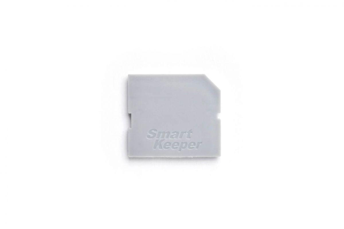 smart keeper essential sd port lock gray lock key mini gray