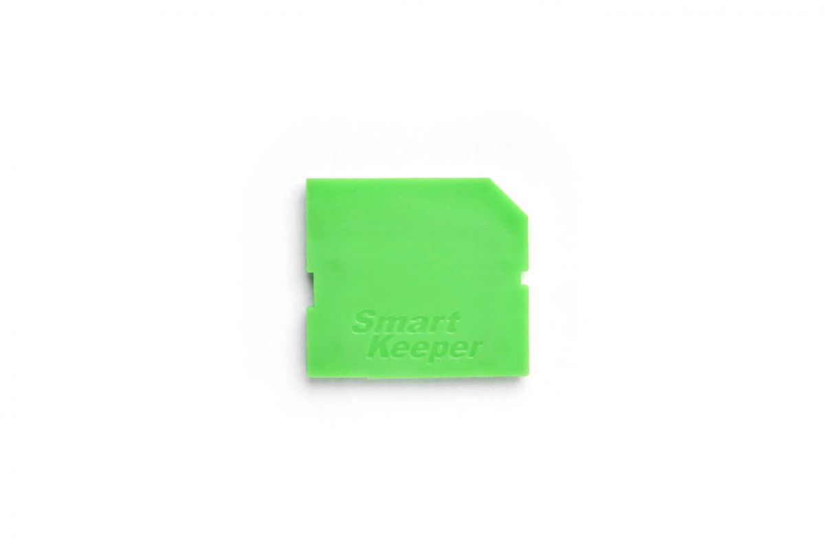 smart keeper essential sd port lock green lock key mini green