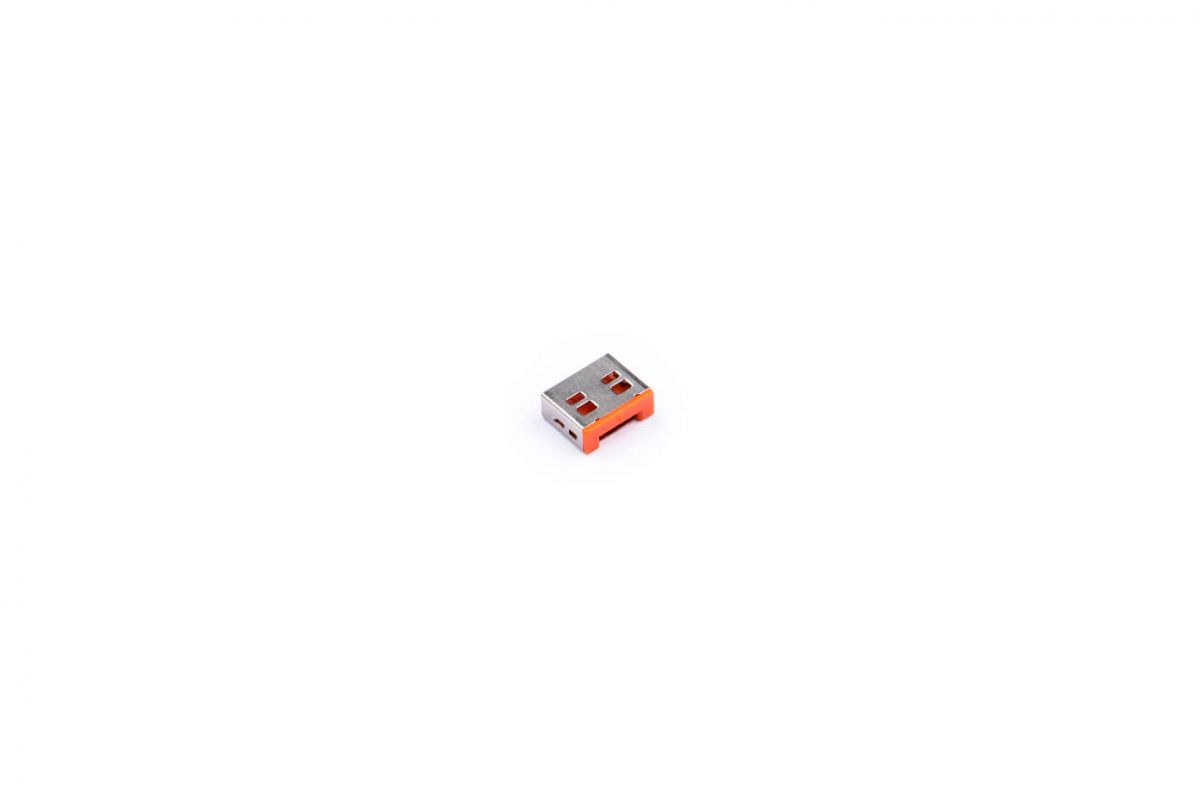 smart keeper essential usba port lock orange lock key basic orange