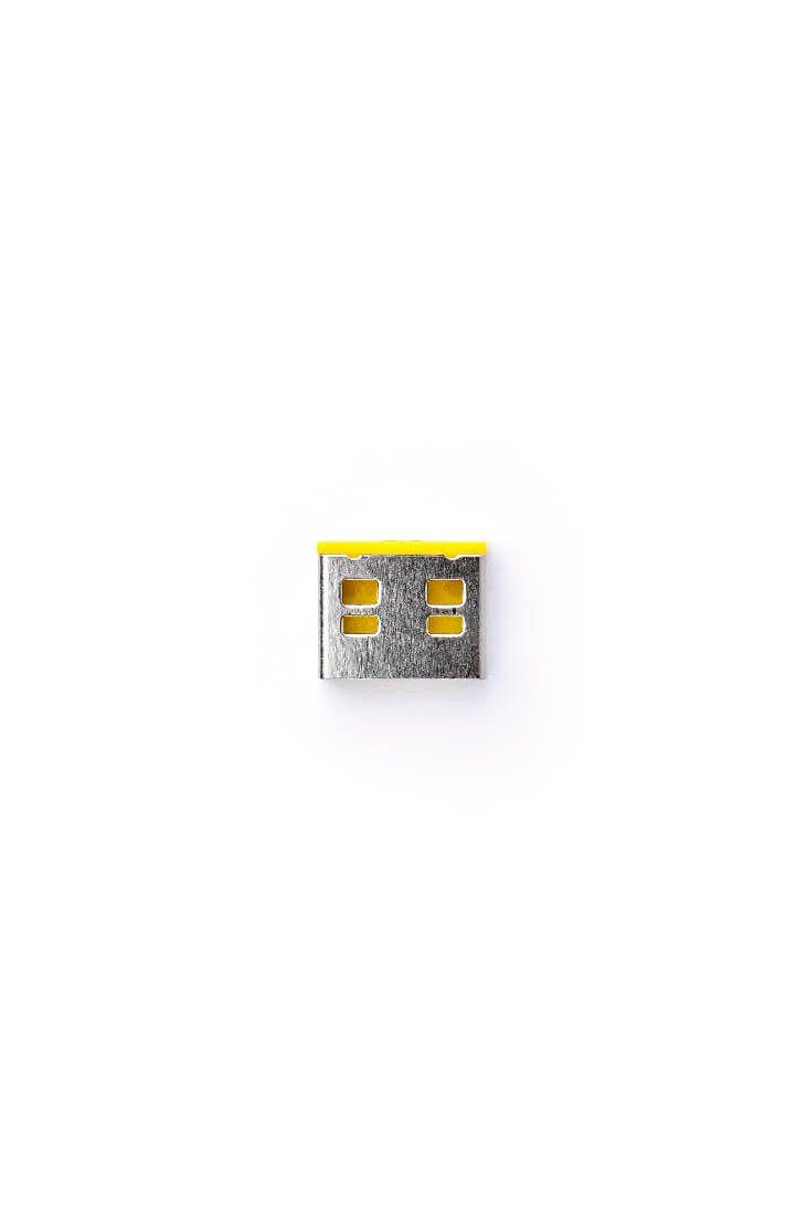 smart keeper essential usba port lock yellow lock key basic yellow