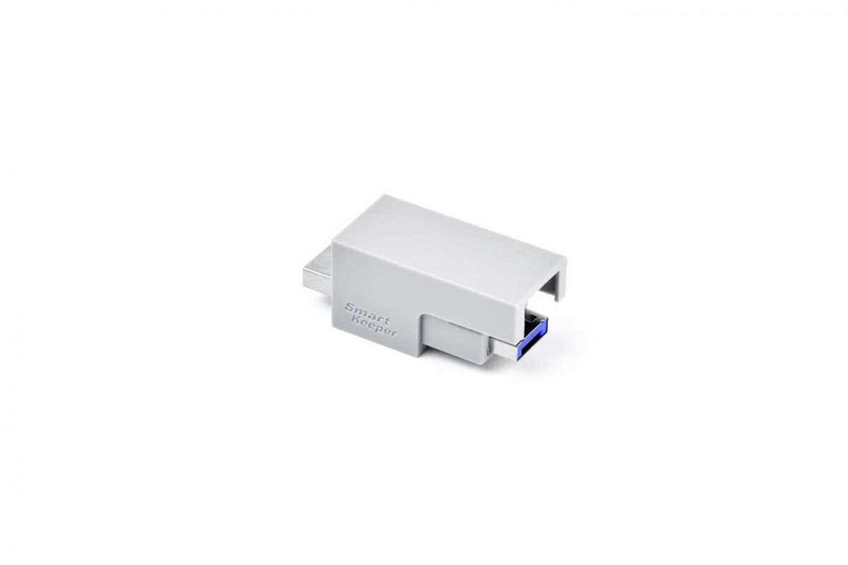 smart keeper essential usb cable lock dark blue