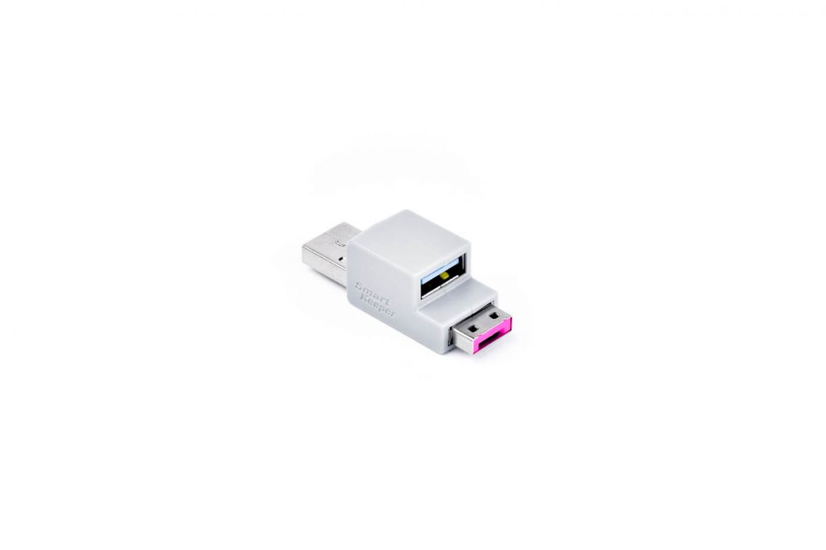 smart keeper essential usb cable lock pink