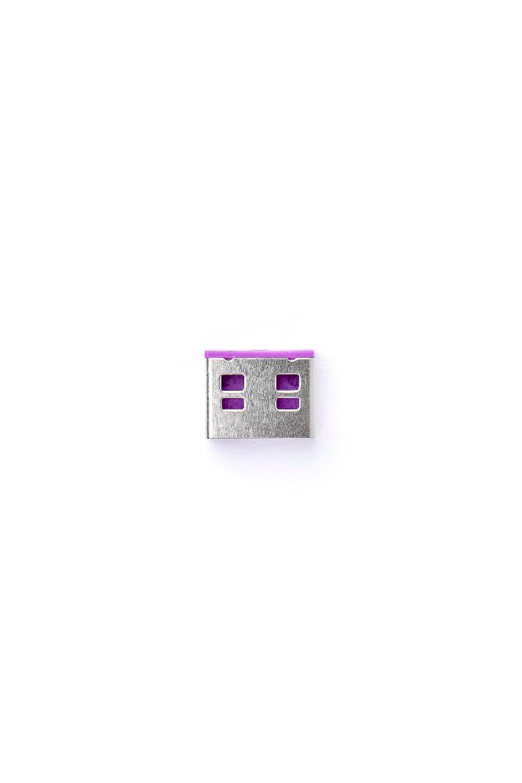 smart keeper essential usb port lock paars lock key basic paars