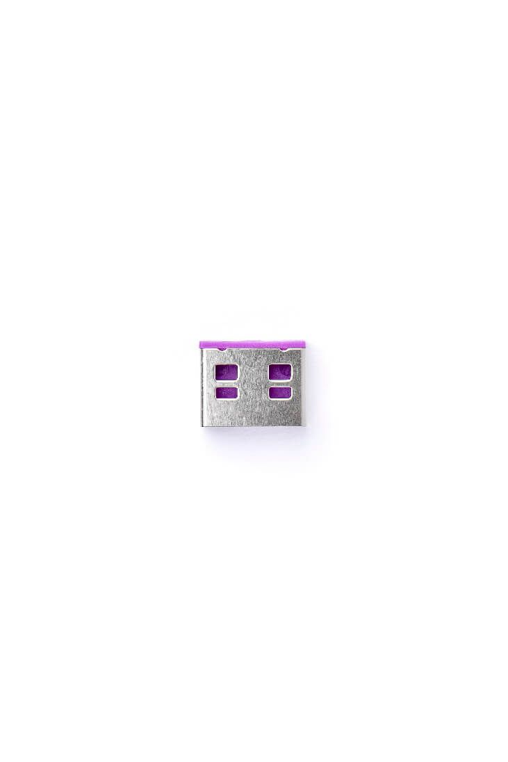 smart keeper essential usb port lock purple lock key basic purple
